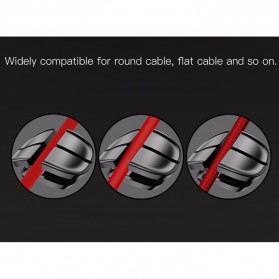 Baseus Cross USB Cable Clip Holder - ACTDJ-01 - Black - 7