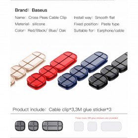 Baseus Cross USB Cable Clip Holder - ACTDJ-01 - Black - 8