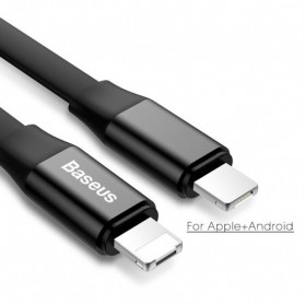 Baseus Nimble Series 2 in 1 Kabel Micro USB + Lightning 2A 23 CM - CALMBJ-01 - Black - 5