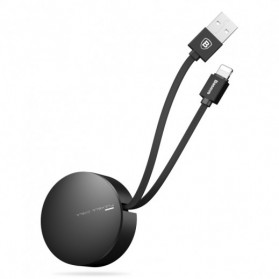 Baseus New Era Telescopic Retractable Kabel Charger Lightning 90 CM - Black