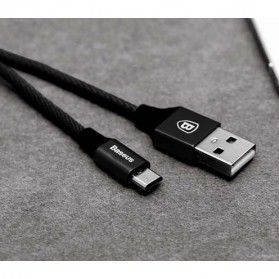 Baseus Yiven Series Kabel Charger Micro USB 2A 1 Meter - Black - 2