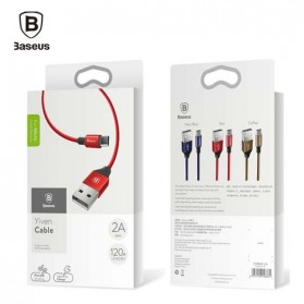 Baseus Yiven Series Kabel Charger Micro USB 2A 1 Meter - Black - 3