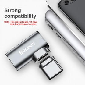 Baseus Adapter Kabel Charger Magnetic USB Type C Elbow L Shape - CATCX-0G - Silver - 4