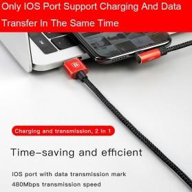 Baseus MVP 3 in 1 Kabel Charger Lightning + Micro + USB Type C 1.2M - WZ09 - Red - 3