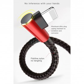 Baseus MVP 3 in 1 Kabel Charger Lightning + Micro + USB Type C 1.2M - WZ09 - Red - 9