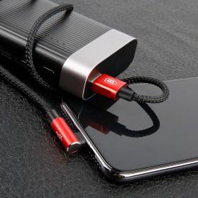 Baseus MVP 3 in 1 Kabel Charger Lightning + Micro + USB Type C 1.2M - WZ09 - Red - 10