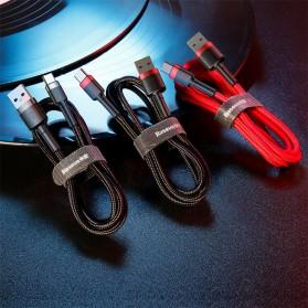 Baseus Cafule Kabel Charger USB Type C QC3.0 2 Meter - CATKLF-CG1 - Black - 4