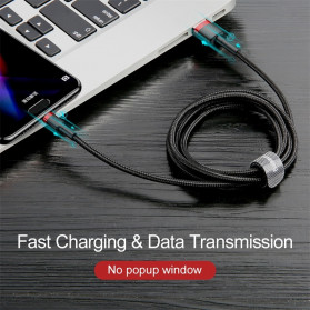 Baseus Cafule Kabel Charger USB Type C QC3.0 2 Meter - CATKLF-CG1 - Black/Black - 2
