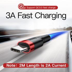 Baseus Cafule Kabel Charger USB Type C QC3.0 2 Meter - CATKLF-CG1 - Black/Black - 5