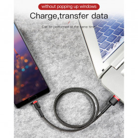 Baseus Cafule Kabel Charger USB Type C QC3.0 2 Meter - CATKLF-CG1 - Black/Black - 6