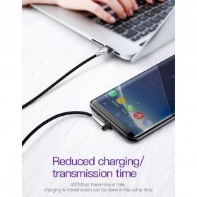 Baseus MVP Kabel Charger USB Type C L Shape 2 Meter - CATMVP-E01 - Black - 5