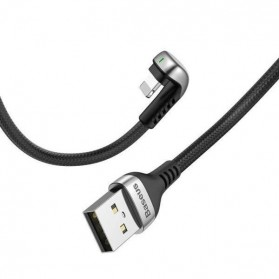Baseus U Shape Kabel Charger Lightning 2.4A 1 Meter - Black - 4