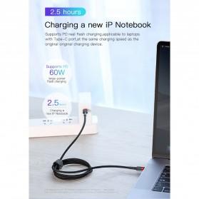 Baseus Cafule Series Kabel Charger Laptop USB Type C 3A 60W 1 Meter CATKLF-GG1 - Black - 8
