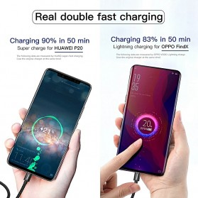Baseus Kabel Charger USB Type C Double Fast Charging 5A 1 Meter - Black - 6