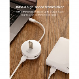 Baseus USB Hub Adapter 3 x USB 2.0 + 1 x USB 3.0 - C30A-03 - Black - 10