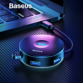 Baseus USB Hub USB Type C to 3 x USB 2.0 + 1 x USB 3.0 - C30C-03 - Black