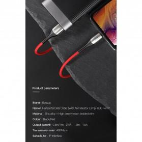 Baseus Kabel Charger Lightning Zinc Alloy 1.5A 2 Meter - CALSP-C01 - Black - 10