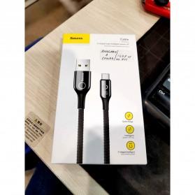 Baseus Kabel Charger USB Type C Intelligent Power Off 3A 1 Meter - CATCD-01 - Black - 11