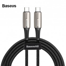 Baseus Kabel USB True Quick Charger Type C to Type C 3A Water Drop Shape- CATSD-J01 - Black - 1