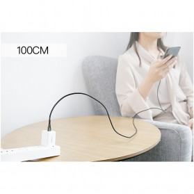 Baseus Kabel USB True Quick Charger Type C to Type C 3A Water Drop Shape- CATSD-J01 - Black - 10