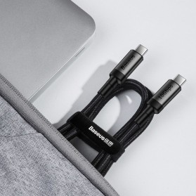 Baseus Cafule Kabel USB Type C to Type C PD 3.1 Charging 100W 5A 1 Meter - CATKLF-SV1 - Black Gold - 10