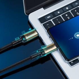 Baseus Cafule Kabel USB Type C to Type C PD 3.1 Charging 100W 5A 1 Meter - CATKLF-SV1 - Black Gold - 4