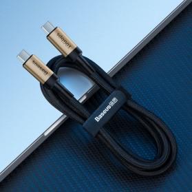 Baseus Cafule Kabel USB Type C to Type C PD 3.1 Charging 100W 5A 1 Meter - CATKLF-SV1 - Black Gold - 5