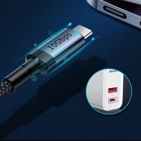 Baseus Cafule Kabel USB Type C to Type C PD 3.1 Charging 100W 5A 1 Meter - CATKLF-SV1 - Black Gold - 6