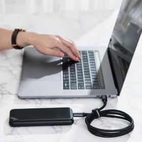 Baseus Cafule Kabel USB Type C to Type C PD 3.1 Charging 100W 5A 1 Meter - CATKLF-SV1 - Black Gold - 7