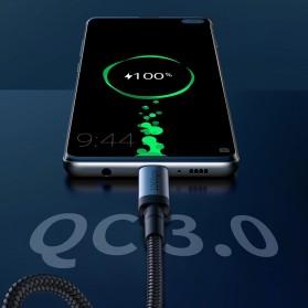Baseus Cafule Kabel USB Type C to Type C PD 3.1 Charging 100W 5A 1 Meter - CATKLF-SV1 - Black Gold - 8