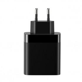 Baseus Charger USB 3 Port 2.4A 30W with LED Display - CCJMHB-B01 - Black - 5