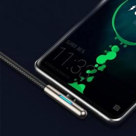 Baseus Kabel Charger USB Type C L Angle LED 40W 2 Meter - CAT7C - Black - 6