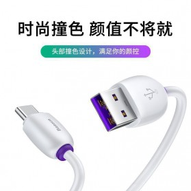 Baseus Kabel Charger USB Type C 40W 5A 1 Meter - CATZS-01 - Black - 5