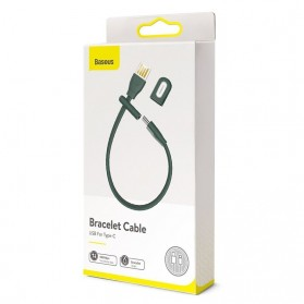 Baseus Kabel Charger USB Type C 5A 22 CM - CATFH-06B - Green - 7