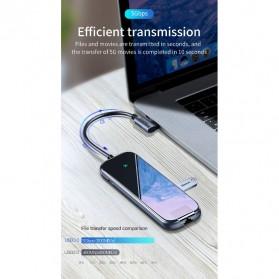 Baseus USB Type C Hub 3 Port USB 3.0 + LAN Adapter + HDMI + Type C PD Charging - CAHUB-DZ0G - Dark Gray - 8