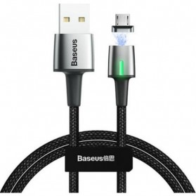 Baseus Kabel Charger Magnetic Head Micro USB 2.4A 1 Meter - CAMXC-A01 - Black - 3