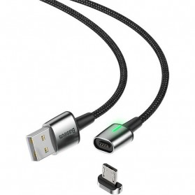 Baseus Kabel Charger Magnetic Head Micro USB 2.4A 1 Meter - CAMXC-A01 - Black - 4