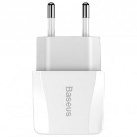 Baseus Mini Dual-U Charger USB 2 Port 2.1A EU Plug - CCALL-MN02 - White - 4