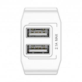 Baseus Mini Dual-U Charger USB 2 Port 2.1A EU Plug - CCALL-MN02 - White - 5