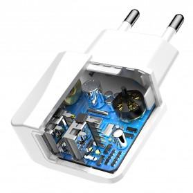 Baseus Mini Dual-U Charger USB 2 Port 2.1A EU Plug - CCALL-MN02 - White - 6