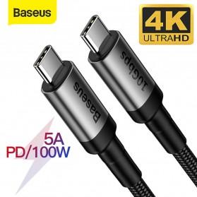 Baseus Cafule Kabel USB Type C to Type C PD 3.1 Charging 100W 5A 1 Meter - CATKLF-SG1 - Gray/Black - 2