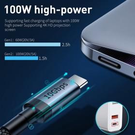 Baseus Cafule Kabel USB Type C to Type C PD 3.1 Charging 100W 5A 1 Meter - CATKLF-SG1 - Gray/Black - 5