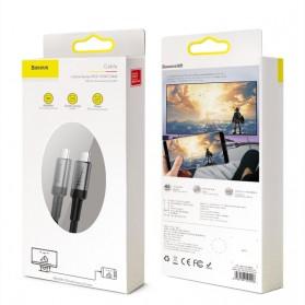 Baseus Cafule Kabel USB Type C to Type C PD 3.1 Charging 100W 5A 1 Meter - CATKLF-SG1 - Gray/Black - 7
