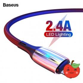 Baseus Kabel Charger Lightning 2.4A 1 Meter - CALSP-B01 - Black