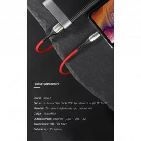 Baseus Kabel Charger Lightning 2.4A 1 Meter - CALSP-B01 - Black - 10