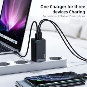Baseus GaN2 Pro Charger USB Type C PD Quick Charge 3 Port 65W - CCGAN65E2 - Black - 5