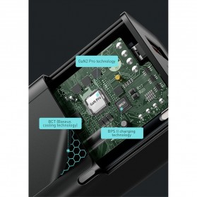 Baseus GaN2 Pro Charger USB Type C PD Quick Charge 3 Port 65W - CCGAN65E2 - Black - 7