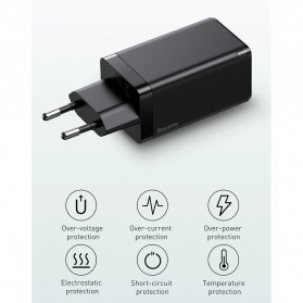 Baseus GaN2 Pro Charger USB Type C PD Quick Charge 3 Port 65W - CCGAN65E2 - Black - 9