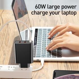 Baseus Fast 3U Charger USB Type C QC3.0 PD 3 Port 60W - BS-EU910 - Black - 2