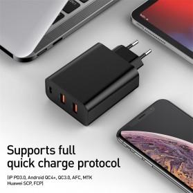 Baseus Fast 3U Charger USB Type C QC3.0 PD 3 Port 60W - BS-EU910 - Black - 4